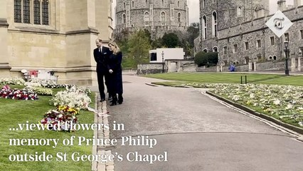 Prince Philip - Earl and Countess of Wessex view flowers at St George's Chapel