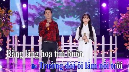Karaoke  Đường Tím Bằng Lăng - Lê Sang v? Kim Chi