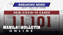 DOH reports 11,101 new cases, bringing the national total to 926,952, as of April 17, 2021
