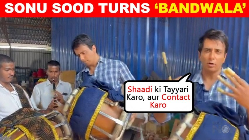 Sonu Sood FUNNY Video | After Making Tasty Dosa, He Turns Into A Band Waala
