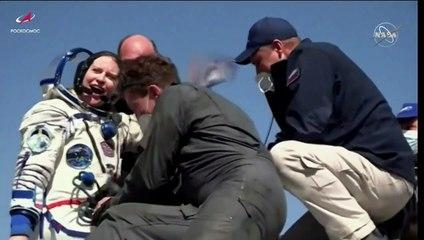Dois cosmonautas russos e uma astronauta da Nasa voltam à Terra