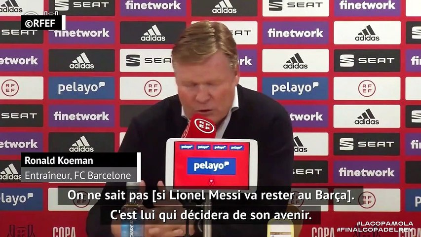 """Koeman : """"Messi, le meilleur joueur du monde"""""""