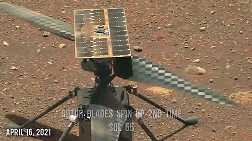 Ingenuity Mars Helicopter runs 2nd rotor blades spin test applying software upda