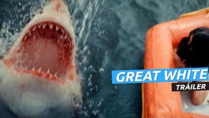 Tráiler de Great White con un tiburón blanco asesino
