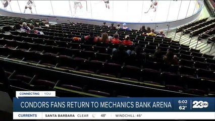 Condors fans return to Mechanics Bank Arena