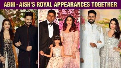 Aishwarya Rai With Husband Abhishek Bachchan's Royal & Stylish Appearances | Red Carpets, Events