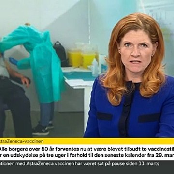 Tanja Erichsen besvimede under pressemøde for åben skærm | COVID-19 | 14 April 2021 | DRTV - Danmarks Radio