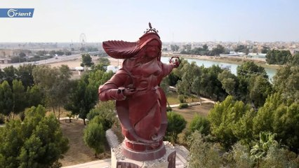 نصب تمثال المرأة الميسانية التي وقفت إلى جانب المقاتلين العراقيين في الحرب ضد إيران