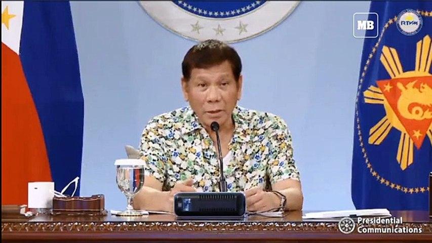 President Duterte addresses the nation on April 19, 2021