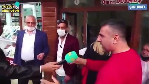 """Sokak röportajından: """"Açlıktan ölsek, ekmek bulamasak yine Tayyip Erdoğan; o bizim çobanımız çobanımız"""""""