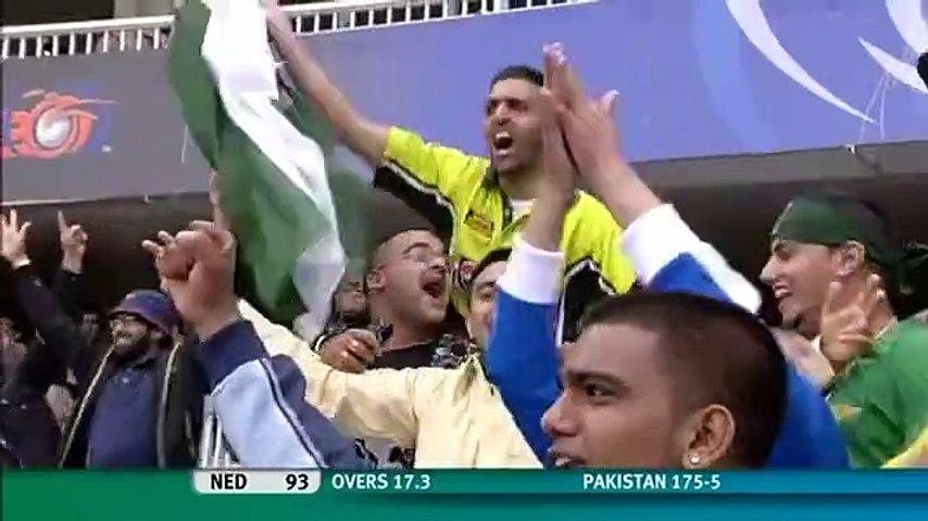 Umar Gul Stumps Flying Wickets