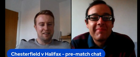 Chesterfield v FC Halifax Town pre-match chat