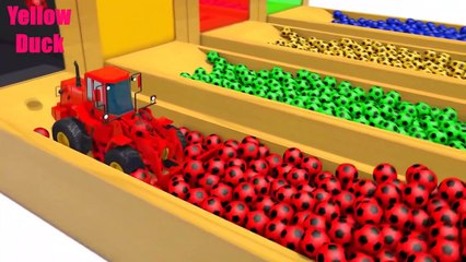 Aprende los colores con los coches, camiones y pelotas, los colores con los animales