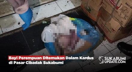 Bayi Perempuan Ditemukan Dalam Kardus di Pasar Cibadak Sukabumi