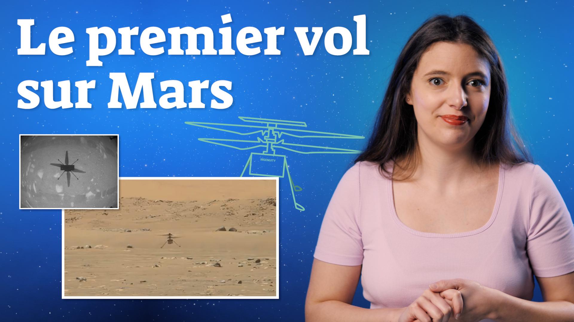 Le premier vol d'Ingenuity sur Mars en images