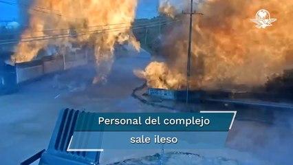 Captan impactante explosión en complejo petroquímico de Pajaritos, en Veracruz