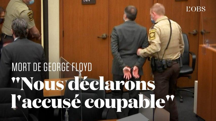 Derek Chauvin déclaré coupable du meurtre de George Floyd quitte le tribunal menotté