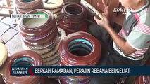 Berkah Ramadan, Perajin Rebana di Blitar Kembali Bergeliat