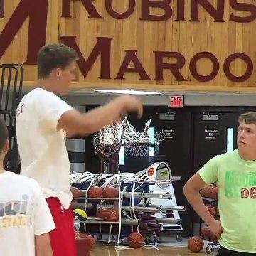 Meyers Leonard Basketball Camp Starts In Robinson