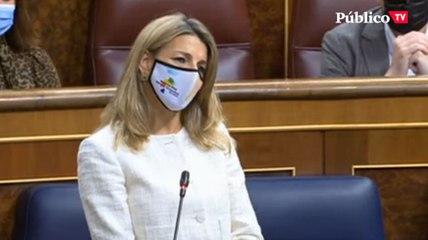 """Yolanda Díaz: """"Somos un ejemplo de protección social"""""""