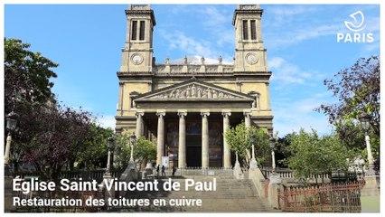Restauration de la toiture de l'église Saint-Vincent-de-Paul (10e)