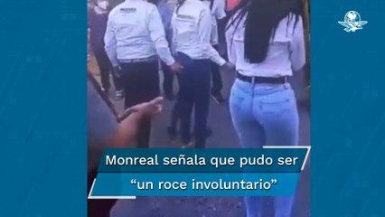 Señalan a Monreal de tocar trasero a candidata en Zacatecas; ambos lo niegan