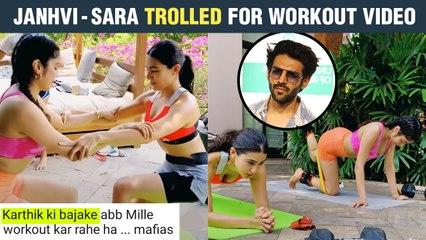Sara - Janhvi Badly Trolled, Netizens Involve Kartik After Their Workout Video Goes Viral