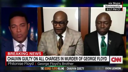 George Floyd's brother reacts to Chauvin guilty verdict