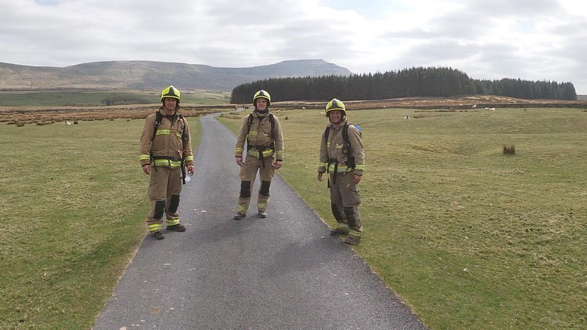 Leeds firefighters' Three Peaks Challenge for Rob Burrows and MND Association