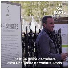 """Nikos Aliagas expose les """"Parisiennes"""" sur les grilles de l'Hôtel de Ville"""