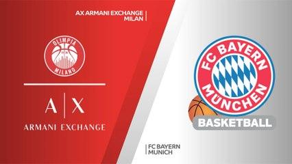 EuroLeague 2020-21 Highlights Playoffs Game 2 video: Milan 80-69 Bayern