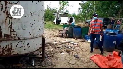 Policía desmantela fábrica de alcohol adulterado en Guerra