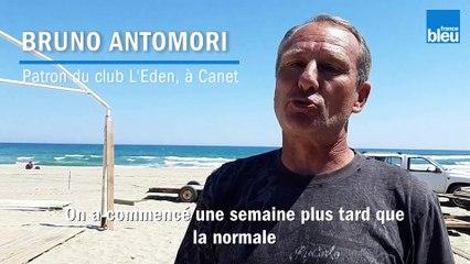 Les clubs de plage des Pyrénées-Orientales s'installent pour peut-être ouvrir en mai