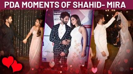 Shahid Kapoor - Mira Rajput PDA At Various Events Caught On Camera
