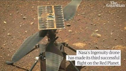 Nasa's Mars Ingenuity drone flies length of football field