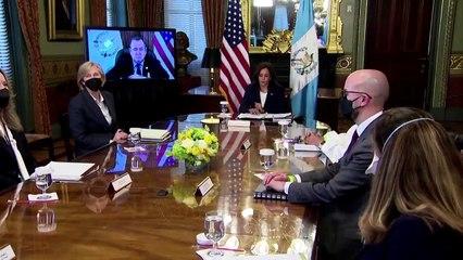 U.S. VP Harris promises Guatemala's Giammattei more aid