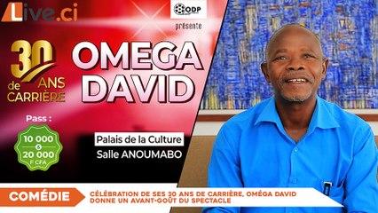 Célébration de ses 30 ans de carrière, Oméga David donne un avant-goût du spectacle