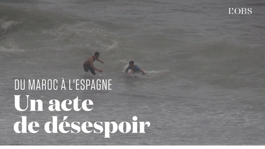 Ils nagent du Maroc à l'Espagne dans l'espoir d'une vie meilleure
