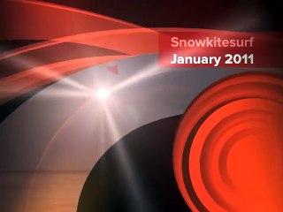 Snow kitesurf training