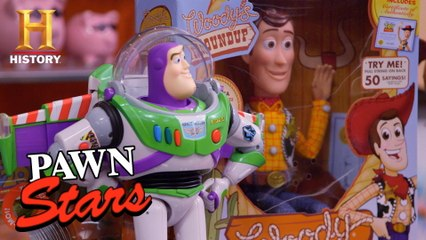"""Pawn Stars: To Infinity and Beyond! HUGE $$$ for """"Toy Story"""" Collection"""
