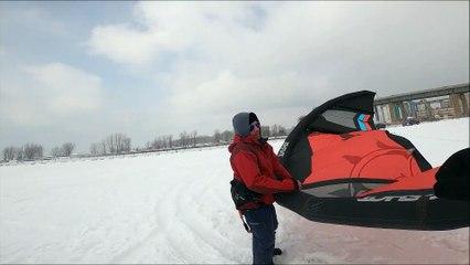 Skip the Ski Lift! Snow kiting Buffalo NY