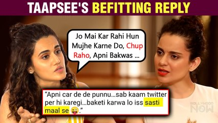 Taapsee Pannu Insulted By A Troll Encouraged By Kangana's Comment Against Her | Hits Back