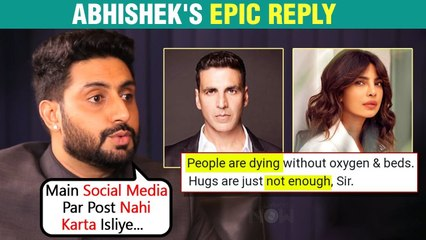 Abhishek Bachchan Criticized For Not Helping Public In Covid Times | Hits Back At Troll In A Polite Way