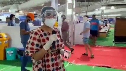 ये है इंदौर... हम लड़ेंगे, और जीतेंगे भी, राधा स्वामी परिसर में गाने गाते डॉक्टर, झूम उठे कोरोना मरीज