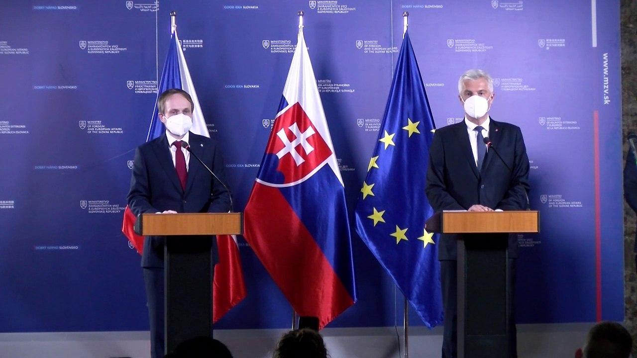 ZÁZNAM: TK ministra I. Korčoka a ministra ZV ČR J. Kulhánka