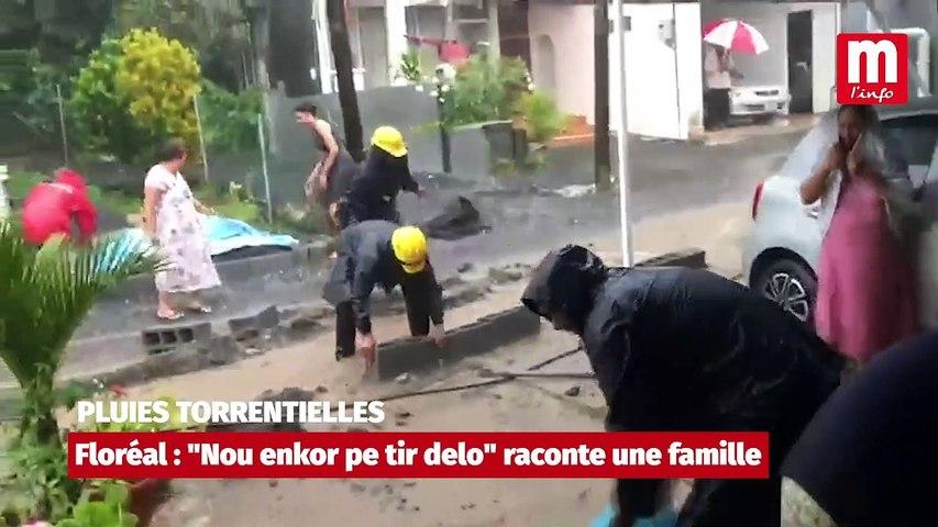 """Pluies torrentielles à Floréal : """"Nou ankor pe tir delo"""""""