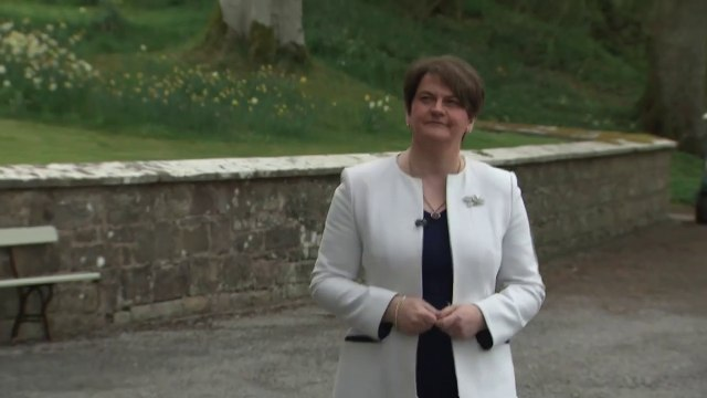 Arlene Foster confirms her decision to step down as leader of the DUP and Northern Ireland's First Minister