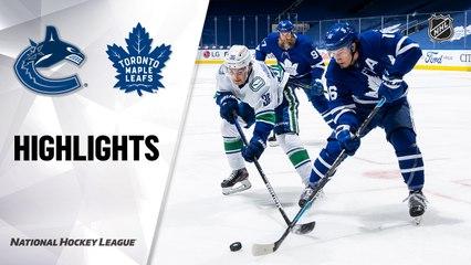 Canucks @ Maple Leafs 4/29/21   NHL Highlights
