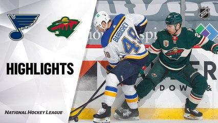 Blues @ Wild 4/29/21   NHL Highlights