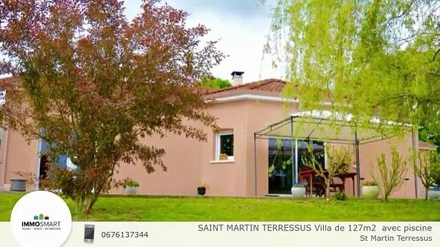 SAINT MARTIN TERRESSUS Villa de 127m2  avec piscine